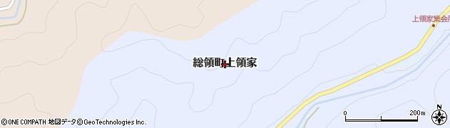 広島県庄原市総領町上領家周辺の地図