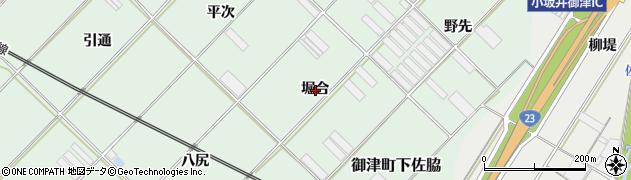 愛知県豊川市御津町下佐脇(堀合)周辺の地図