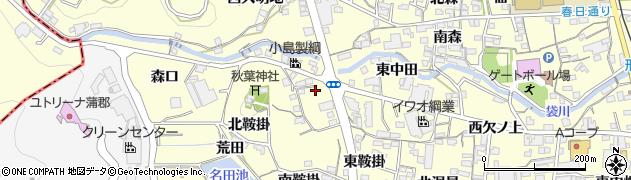 愛知県蒲郡市形原町(西中田)周辺の地図