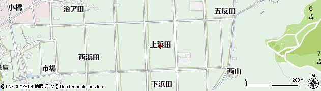 愛知県西尾市吉良町小山田(上浜田)周辺の地図