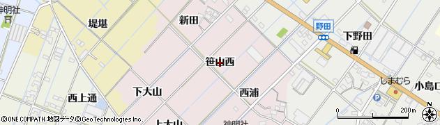 愛知県西尾市一色町惣五郎(笹山西)周辺の地図