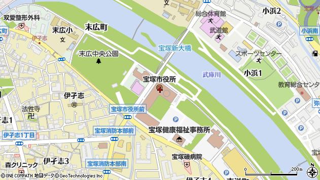〒665-0000 兵庫県宝塚市(以下に掲載がない場合)の地図