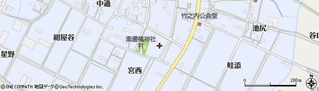 愛知県豊橋市下条東町(宮脇)周辺の地図
