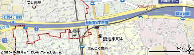 蛍池東4南周辺の地図