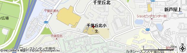 大阪府吹田市千里丘北周辺の地図