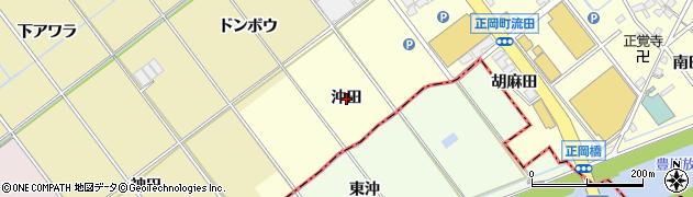 愛知県豊川市正岡町(沖田)周辺の地図
