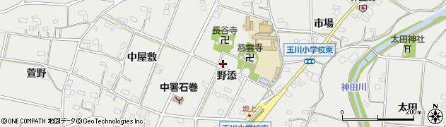 愛知県豊橋市石巻本町(野添)周辺の地図