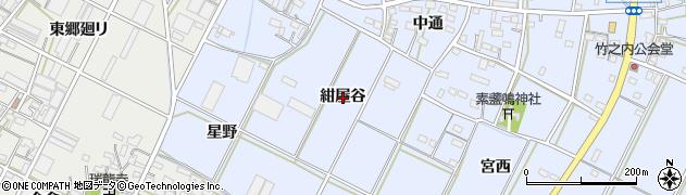 愛知県豊橋市下条東町(紺屋谷)周辺の地図