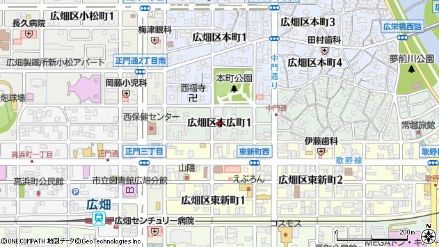 〒671-1115 兵庫県姫路市広畑区末広町の地図