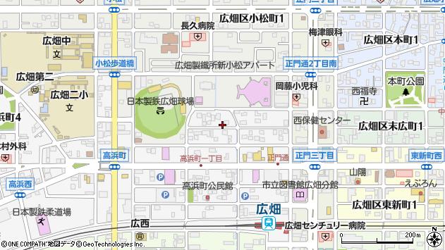 〒671-1153 兵庫県姫路市広畑区高浜町の地図