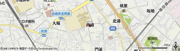 愛知県豊川市小坂井町(西浦)周辺の地図