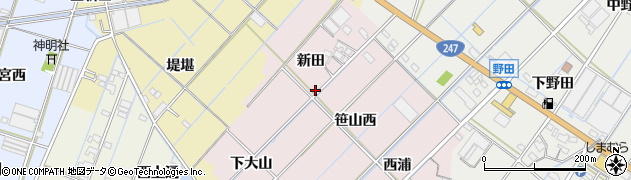 愛知県西尾市一色町惣五郎周辺の地図