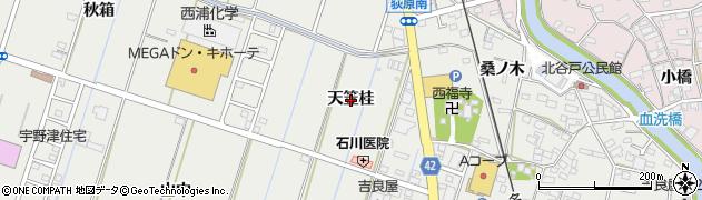 愛知県西尾市吉良町吉田(天笠桂)周辺の地図