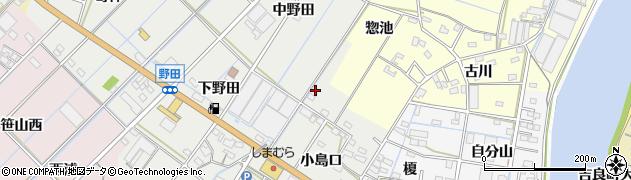 愛知県西尾市一色町野田周辺の地図
