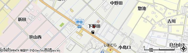 愛知県西尾市一色町野田(下野田)周辺の地図