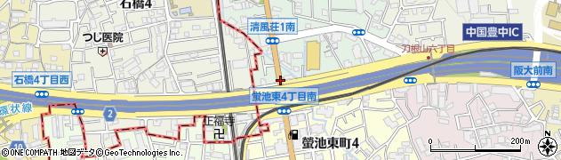 蛍池東4北周辺の地図