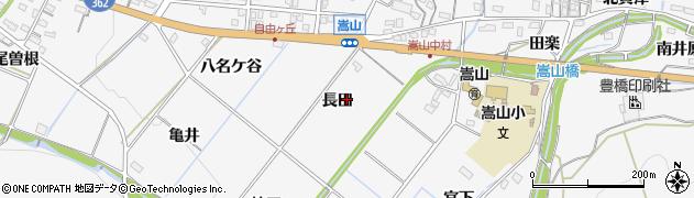 愛知県豊橋市嵩山町周辺の地図