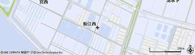 愛知県西尾市一色町小薮(船江西)周辺の地図