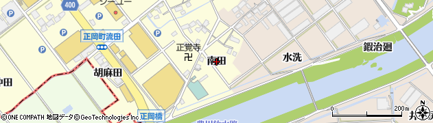 愛知県豊川市正岡町(南田)周辺の地図