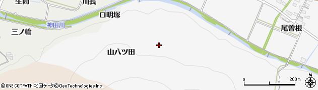 愛知県豊橋市嵩山町(山八ツ田)周辺の地図