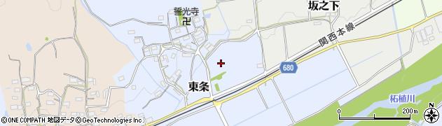三重県伊賀市東条周辺の地図