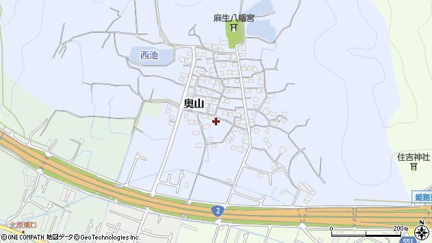 〒672-8003 兵庫県姫路市奥山の地図
