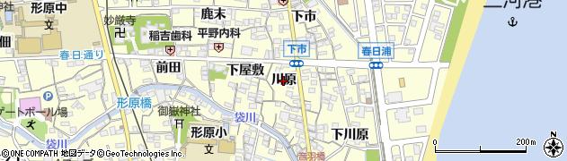 愛知県蒲郡市形原町(川原)周辺の地図