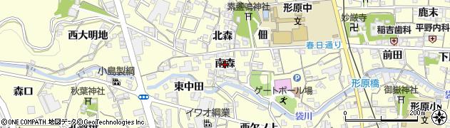 愛知県蒲郡市形原町(南森)周辺の地図
