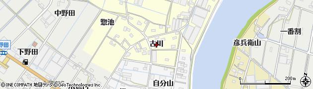 愛知県西尾市一色町大塚(古川)周辺の地図
