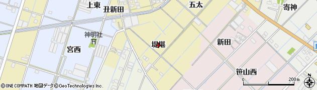 愛知県西尾市一色町対米(堤堪)周辺の地図
