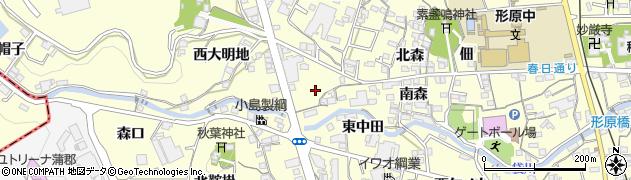 愛知県蒲郡市形原町(南大明地)周辺の地図