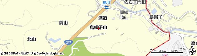 愛知県西尾市東幡豆町(烏帽子山)周辺の地図