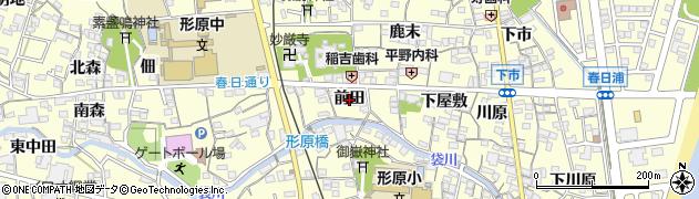 愛知県蒲郡市形原町(前田)周辺の地図