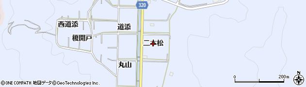 愛知県西尾市西幡豆町(二本松)周辺の地図