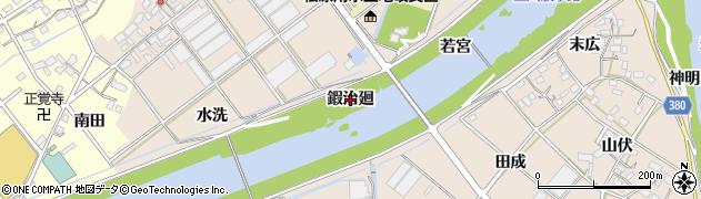 愛知県豊川市行明町(鍜治廻)周辺の地図
