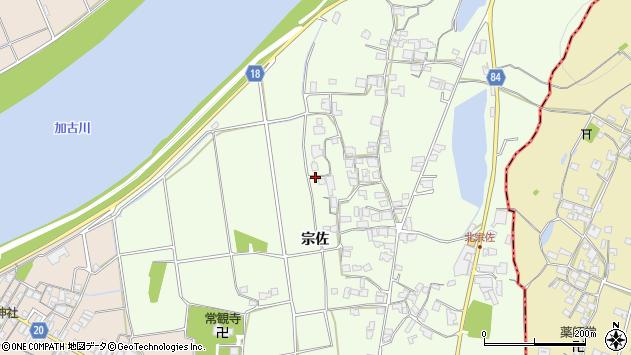 〒675-1201 兵庫県加古川市八幡町宗佐の地図