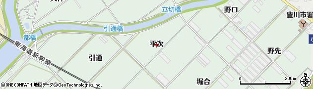愛知県豊川市御津町下佐脇(平次)周辺の地図
