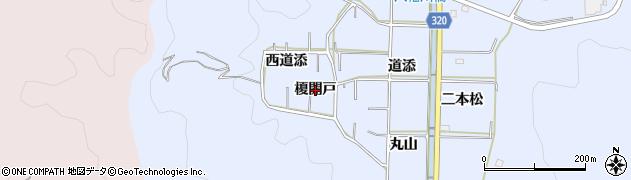 愛知県西尾市西幡豆町(榎開戸)周辺の地図