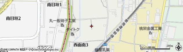 大阪府高槻市西面南周辺の地図