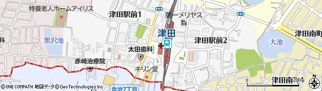 大阪府枚方市周辺の地図