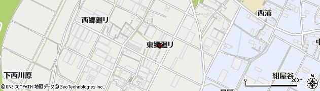 愛知県豊橋市下条西町(東郷廻リ)周辺の地図