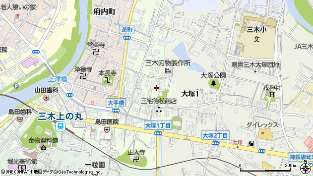 〒673-0414 兵庫県三木市芝町の地図