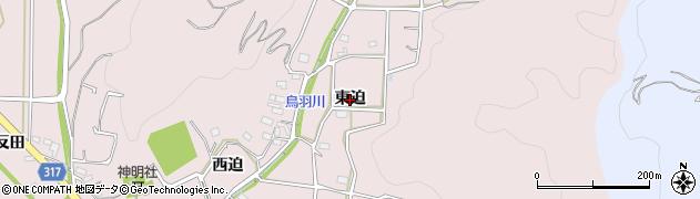 愛知県西尾市鳥羽町(東迫)周辺の地図