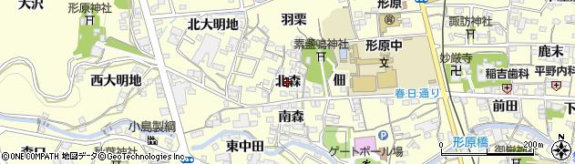 愛知県蒲郡市形原町(北森)周辺の地図