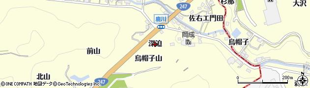 愛知県西尾市東幡豆町(深迫)周辺の地図