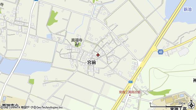 〒675-0041 兵庫県加古川市西神吉町宮前の地図