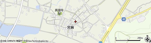 兵庫県加古川市西神吉町(宮前)周辺の地図