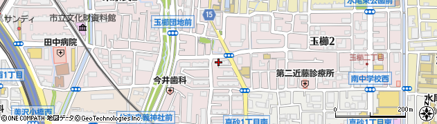 府営茨木玉櫛住宅周辺の地図