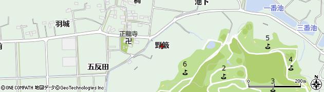 愛知県西尾市吉良町小山田(野籔)周辺の地図