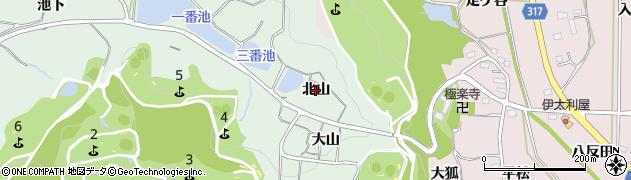 愛知県西尾市吉良町小山田(北山)周辺の地図